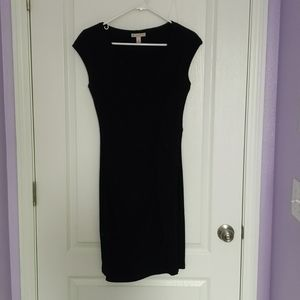Black cocktail dress with Ruching